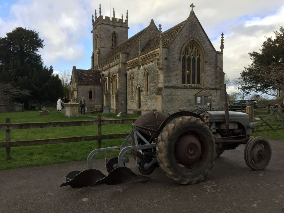 Plough Sunday at St Peter's Lydford 12 January 2020
